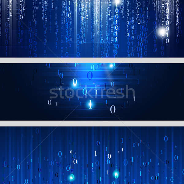 Digital Binary Codes Banners Stock photo © alexaldo