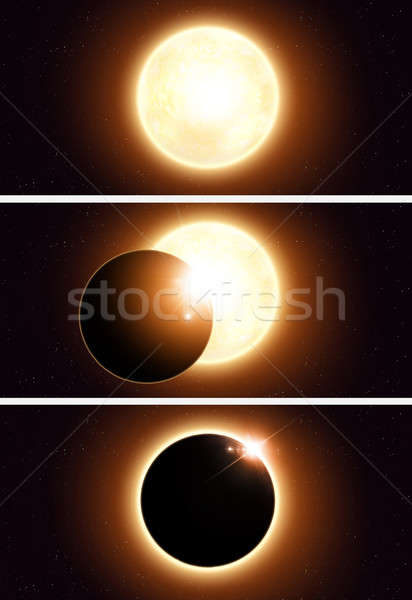 Space Eclipse Banners Stock photo © alexaldo