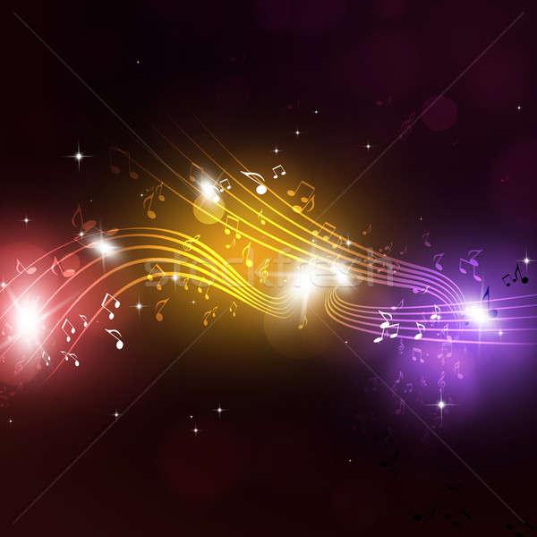 Notas brillante magia fiesta notas musicales feliz Foto stock © alexaldo