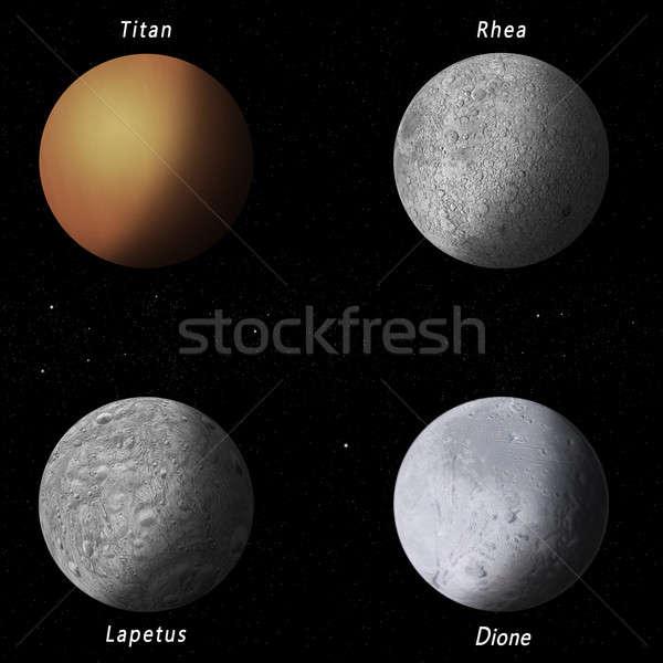 Saturn Moons Stock photo © alexaldo