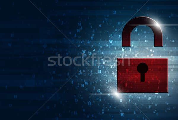 Internet biztonság absztrakt technológia digitális bináris kód Stock fotó © alexaldo