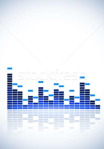 Korektor muzyki niebieski biały strony imprez Zdjęcia stock © alexaldo