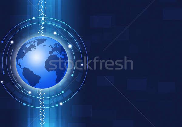 Business Blue Background Stock photo © alexaldo