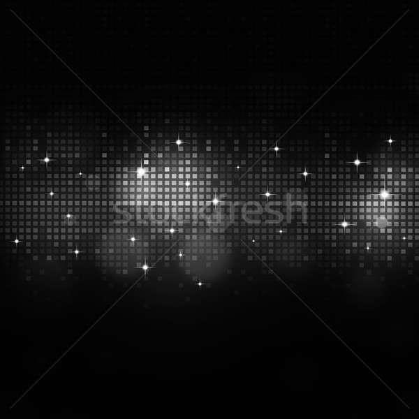 Zene feketefehér hangszínszabályozó absztrakt digitális sötét Stock fotó © alexaldo