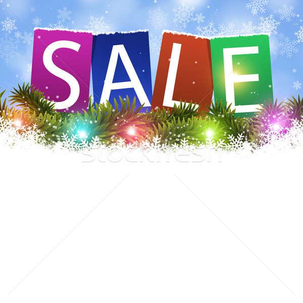 Holiday Sale Card Stock photo © alexaldo