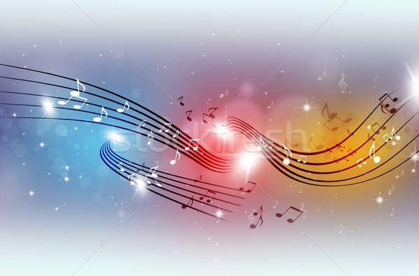Foto stock: Fiesta · notas · musicales · resumen · música · danza · luz