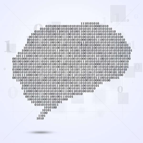 двоичный код мозг аннотация технологий ярко интернет Сток-фото © alexaldo