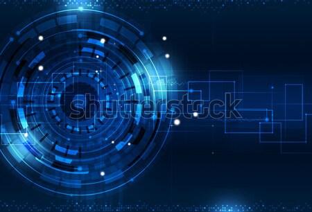 Tecnologia digitale blu tecnologia digitale mondo business Foto d'archivio © alexaldo