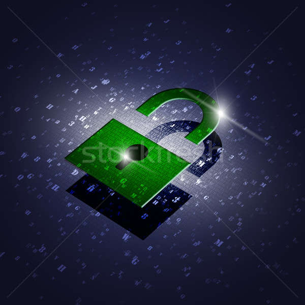 Green Security Code Lock Stock photo © alexaldo