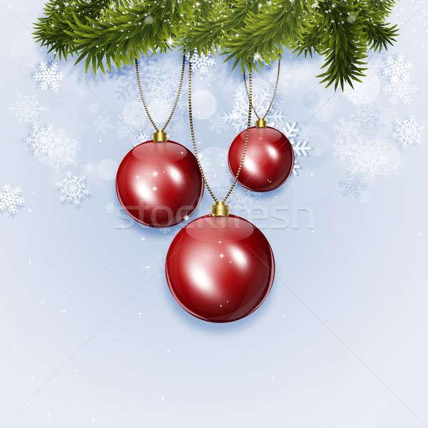 Tatil kış kırmızı Noel Stok fotoğraf © alexaldo