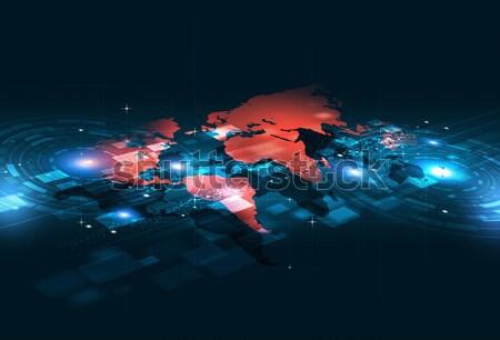 Digitális technológia absztrakt digitális világ üzlet technológia Stock fotó © alexaldo