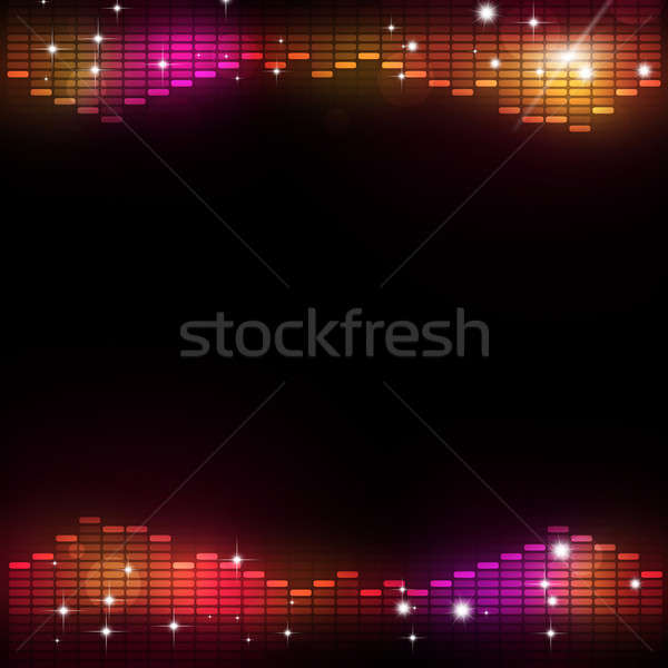 Disco Music Equalizer Party Background Stock photo © alexaldo