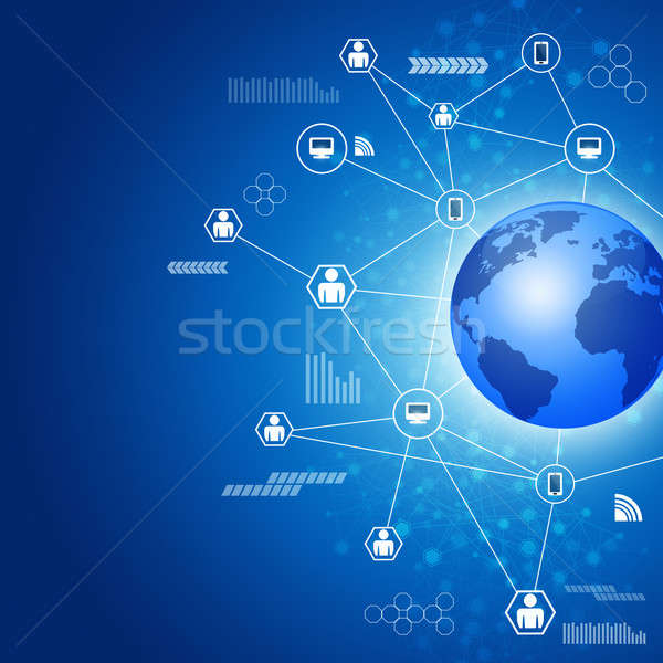 Biz Global Connections Stock photo © alexaldo