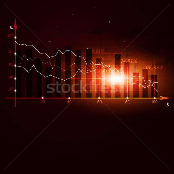 Stock Finance Crisis Diagram Stock photo © alexaldo