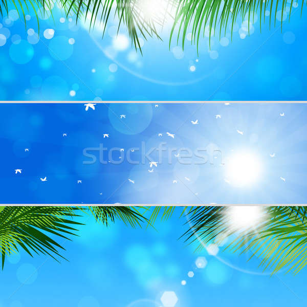 Stock photo: Tropical Banner Set