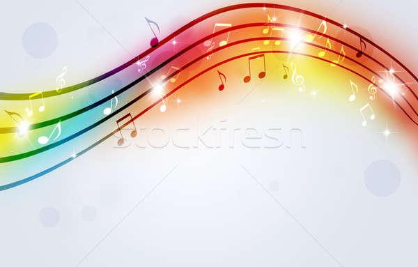 Fényes hangjegyek absztrakt buli zene tánc Stock fotó © alexaldo