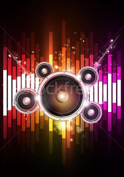 Disco muzyki korektor radosny strony imprez Zdjęcia stock © alexaldo