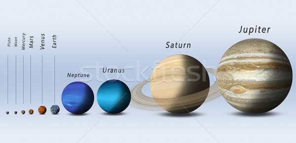 Solar System Planets Full Size Stock photo © alexaldo