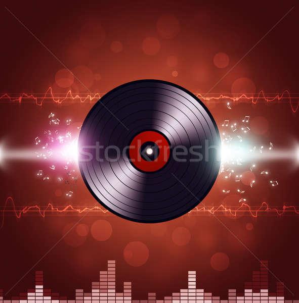 Vinyl Music Background Stock photo © alexaldo