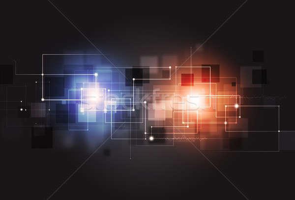 抽象的な 技術 ビジネス 通信 インターネット ストックフォト © alexaldo