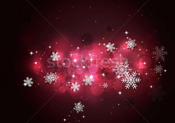зима снега красный аннотация праздник Рождества Сток-фото © alexaldo