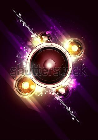Magic Party Music Background Stock photo © alexaldo