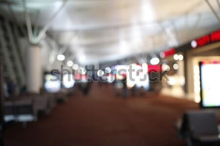 Blurry Lights of Airport Terminal Stock photo © alexaldo