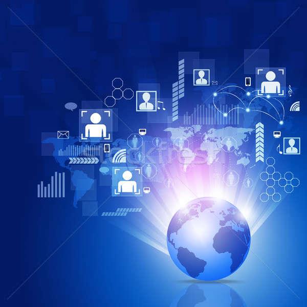 Zdjęcia stock: świat · business · network · streszczenie · sieci · działalności · związku