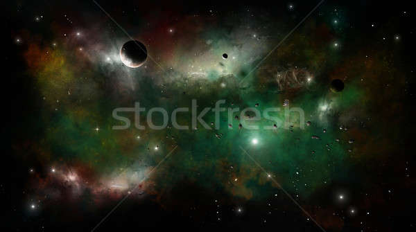 Space Nebula Stock photo © alexaldo