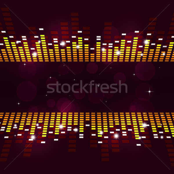 Equalizzatore poster abstract musica attivo parti Foto d'archivio © alexaldo