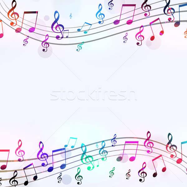 Music Notes Cool Poster Stock photo © alexaldo
