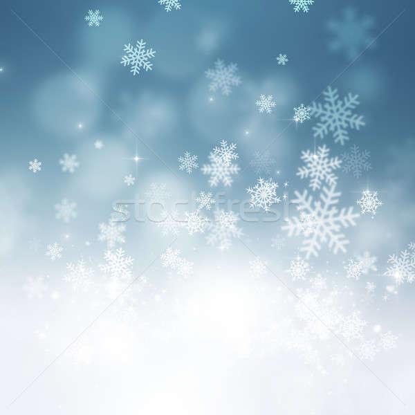 Christmas Snow Holiday Background Stock photo © alexaldo