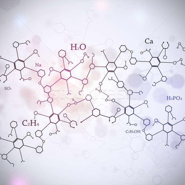 Resumen blanco ciencia tecnología química elementos Foto stock © alexaldo