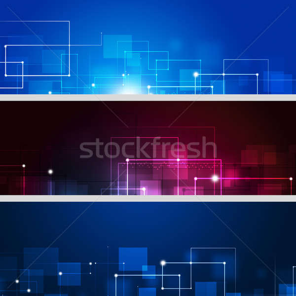 Abstract Connection Lines Banners Stock photo © alexaldo