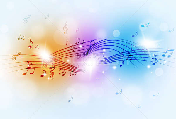 Music Notes Multicolor Background Stock photo © alexaldo