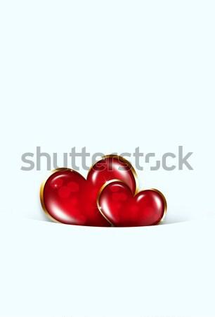 Валентин сердцах аннотация два белый вечеринка Сток-фото © alexaldo