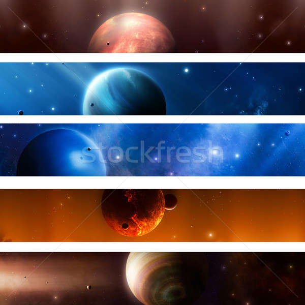 Space Planet  Banners Stock photo © alexaldo