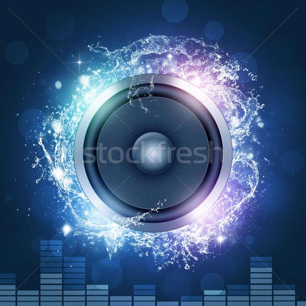 Gyártmány zaj hang diszkó éjszakai klub bulik Stock fotó © alexaldo