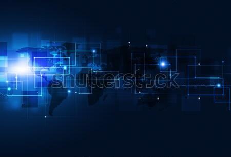 Abstract Communication Blue Background Stock photo © alexaldo