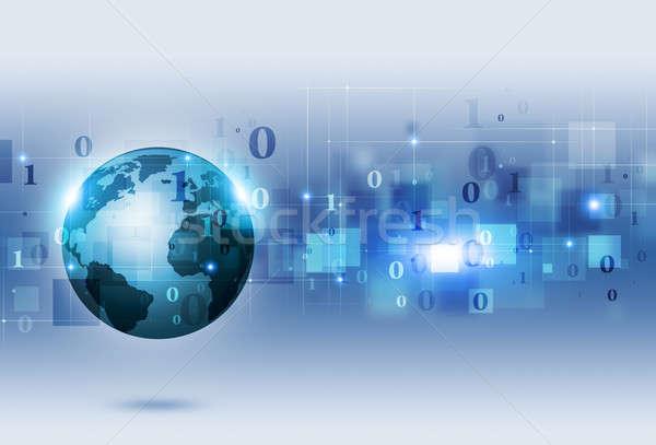 Código binario comunicación resumen tecnología negocios red Foto stock © alexaldo