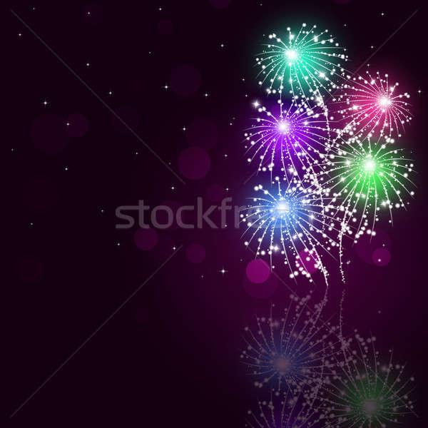 Feux d'artifice montrent vacances lumineuses célébration pyrotechnie Photo stock © alexaldo