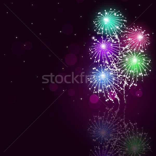 Multicolor Fireworks Show Stock photo © alexaldo