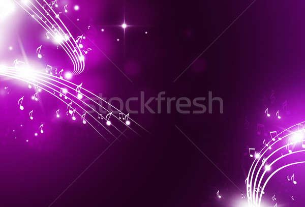 музыки отмечает музыку фары bokeh темно вечеринка Сток-фото © alexaldo