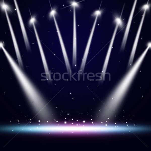 музыку концерта фары события вечеринка дискотеку Сток-фото © alexaldo
