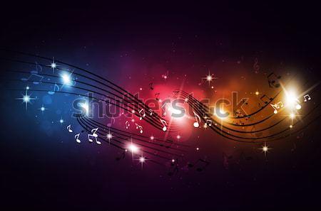 Multicolor Music Notes Stock photo © alexaldo
