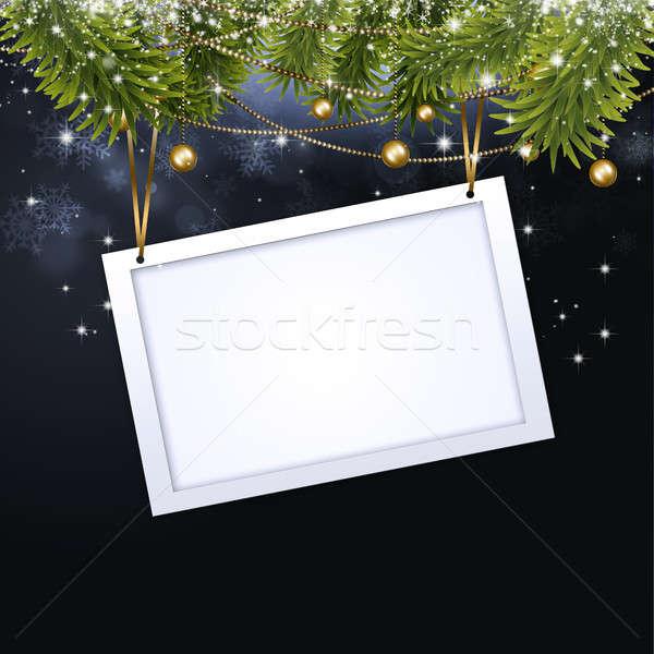 Karácsony ünneplés figyelmeztetés folt absztrakt ünnep Stock fotó © alexaldo