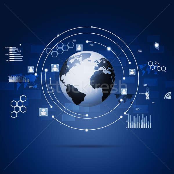 Technology Concept Global Communication Interface Stock photo © alexaldo