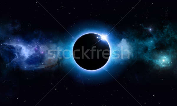 Deep Space Solar Eclipse Stock photo © alexaldo