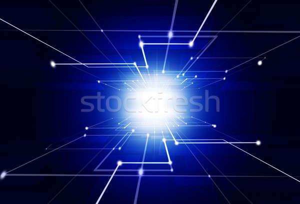 Abstract Technology Blue Background Stock photo © alexaldo