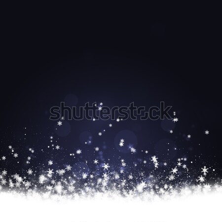 Hóesés tél élvezetes karácsony új év ünneplés Stock fotó © alexaldo